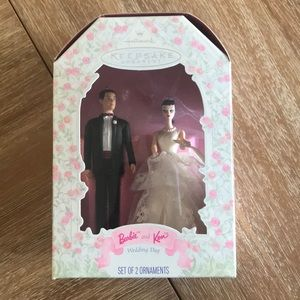 Hallmark Barbie and Ken ornaments